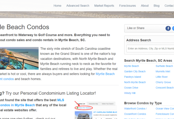MyrtleBeachCondos Site Snapshot