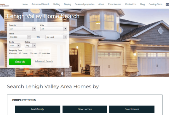 search4yournewhome Site Snapshot